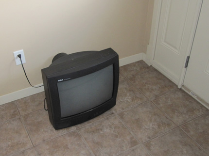 TV in the foyer
